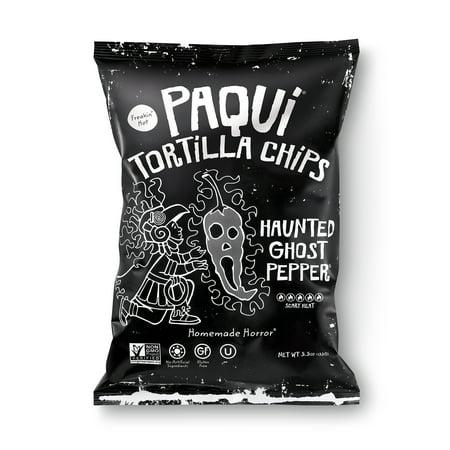 Paqui Tortilla Chips, Haunted Ghost Pepper, Gluten-Free, 5.5oz](Halloween Tortilla Chips)