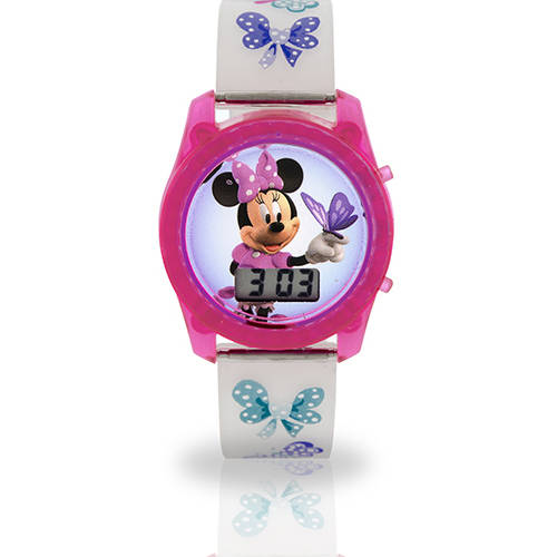Minnie Bow Flashing Light Up Watch