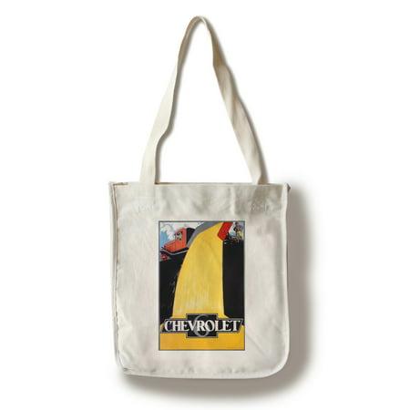 Chevrolet (dump truck) Vintage Poster (artist: Stevens & Adyns) Belgium (100% Cotton Tote Bag - (Chevrolet Handbag)
