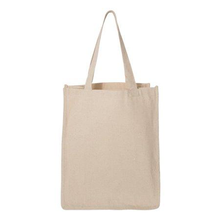 Q125400 Q-Tees Shopper Tote Unisex Adult 273L Gusseted Jumbo Canvas (Canvas Shopper)
