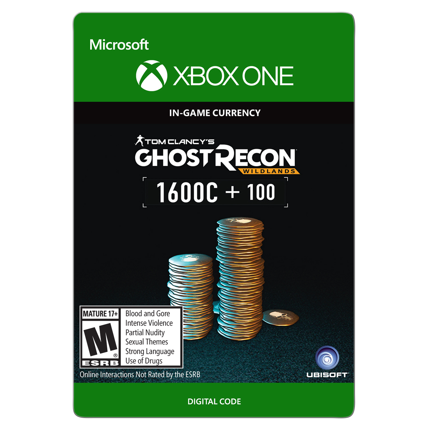 Xbox One Tom Clancy's Ghost Recon Wildlands Currency pack 1700 GR credits (email delivery)