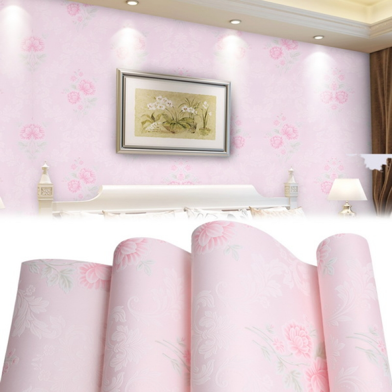 Non-woven 3D Rolls Wallpaper Print Wallpaper Bedroom Living Room Home Wall Decor
