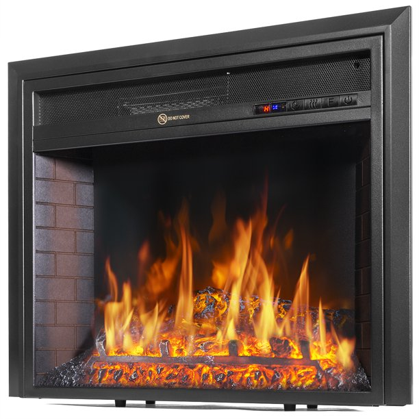 Barton Insert Electric Fireplace Flame, Fake Fireplace Heater Insert
