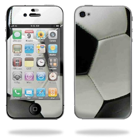 Mightyskins Protective Vinyl Skin Decal Cover for Apple iPhone 4 or iPhone 4S AT&T or Verizon 16GB 32GB Cell Phone wrap sticker skins – Soccer