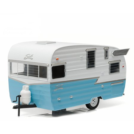Shasta Airflyte 15' Camper Trailer Blue for 1/24 Scale Model Cars and Trucks 1/24 by Greenlight