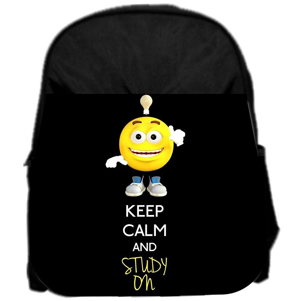 lea elliot pre-school backpack, keep calm and study on, small, black