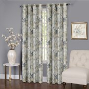 "Tranquility Set of 2 Energy Efficient Blackout Curtain Panels (50"" x 84"") with 8 Grommets - Silver"