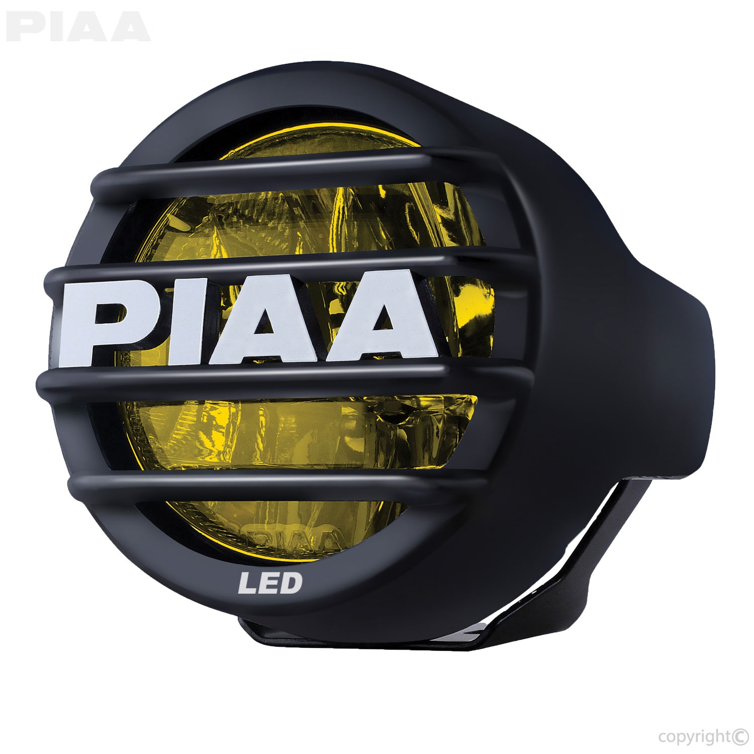 PIAA 12-05300 LP530 LED Fog Lamp; 2 LEDs/8W Each; 3.5 in.; Yellow; Ion; Single; SAE Compliant;