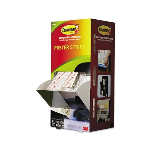 3m Command Small Poster Strips Pack MMM17024CABPK