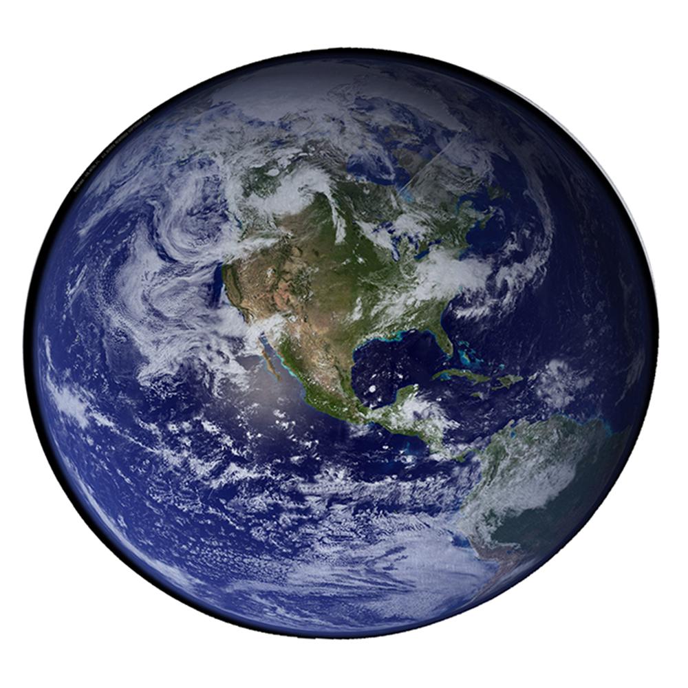 "KuzmarK 12"" Round Glass Cutting Board - Earth"