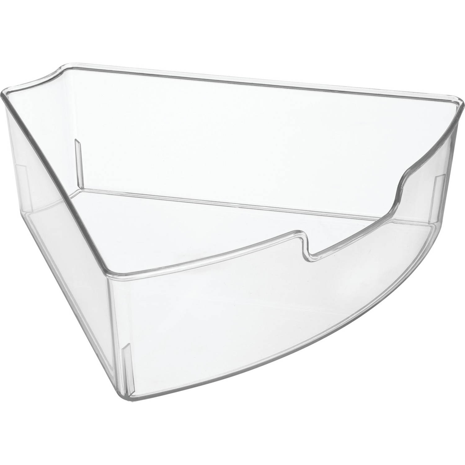 White Kitchen Bin interdesign lazy susan kitchen bin, clear, 1/6 wedge - walmart