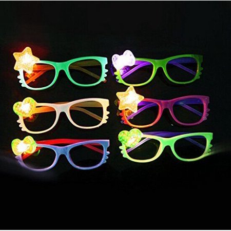 12 Pcs LED Glasses Light Up Hello Kitty Flashing Rave Wedding Party - Hello Kitty Partys