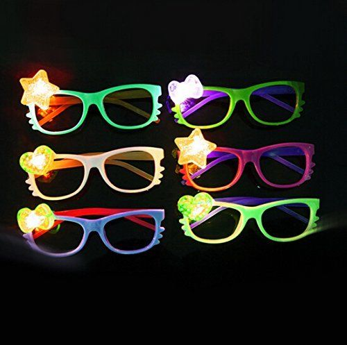 12 Pcs LED Glasses Light Up Hello Kitty Flashing Rave Wedding Party Supplies