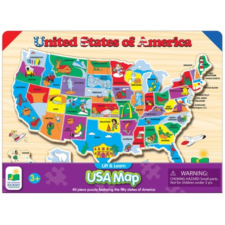 The Learning Journey Lift and Learn USA Map Puzzle on map usa state map game, map of united states game warden, map of asia, map of usa states to learn,
