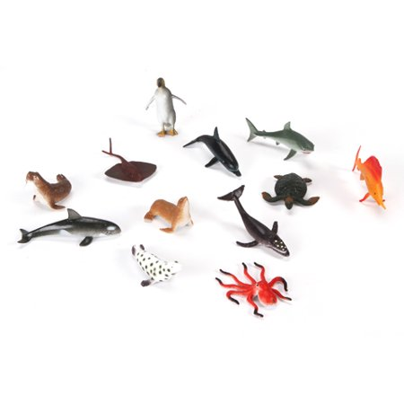 Kids' Toy Sea Creatures: Miniature Plastic, 2 inches (Miniature Submarine Toy)