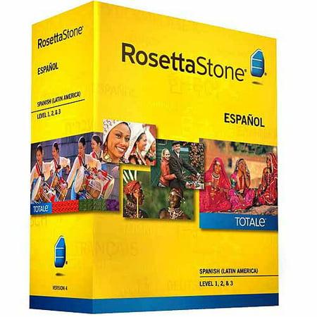 Rosetta Stone Version 4 Spanish  Latin America  Levels 1 3 Set  Pc Mac