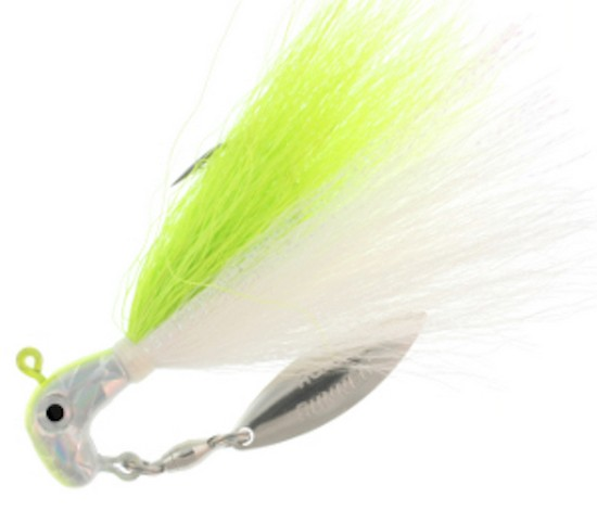 Blakemore BP-18-500 Bucktail Pro Runner 1 8 oz Lemon Shad   Chartreuse by Blakemore