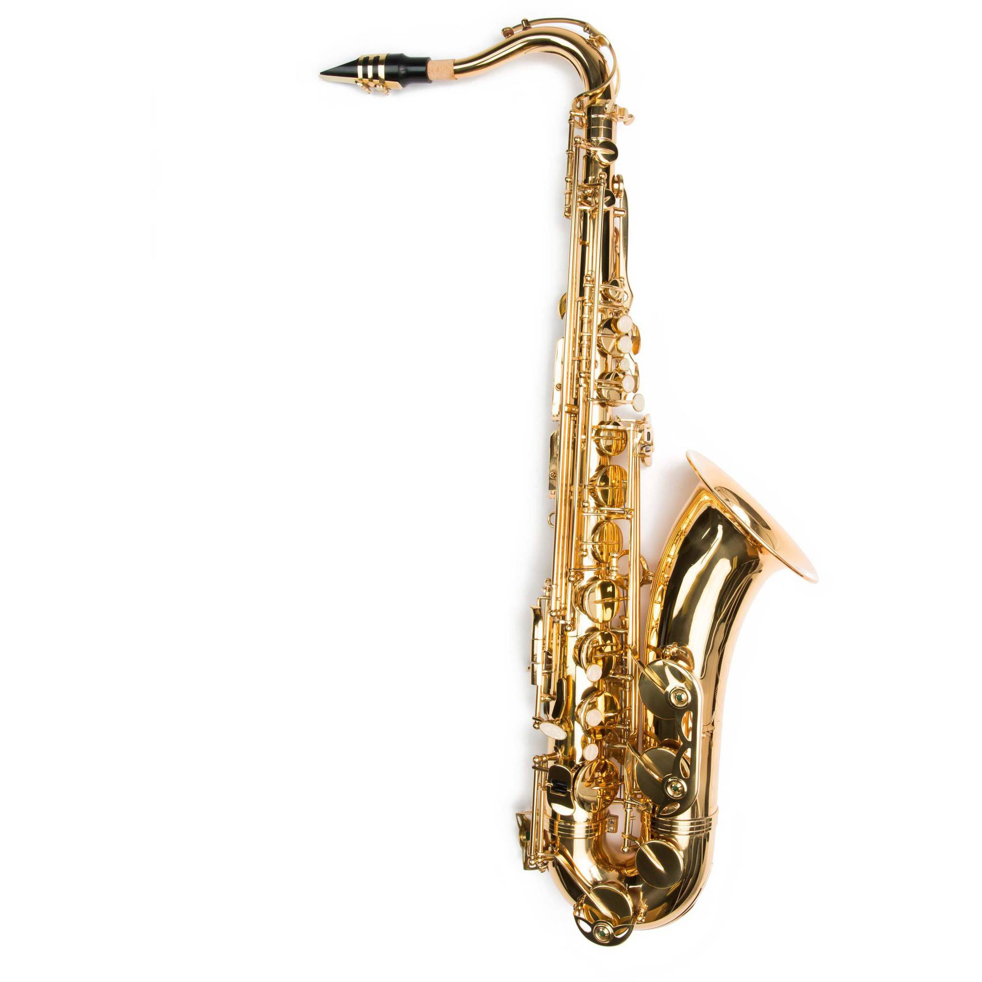 Kayata Tenor B Flat Student Saxphone with Carrying Bag and Cleaning Accessories, Gold-Lacquered