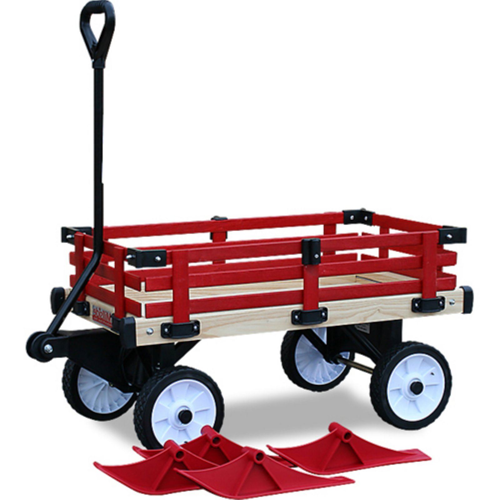 "Millside Industries WWSR-W 16"" x 34"" Convertible Wooden Wagon"