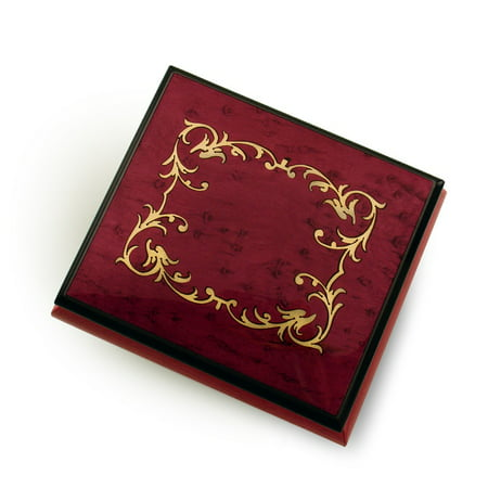 Classic Red Wine Arabesque Wood Inlay Music Box, Quality & Beauty of Sorrento Italy - 12 Days of (Arabesque Wood)