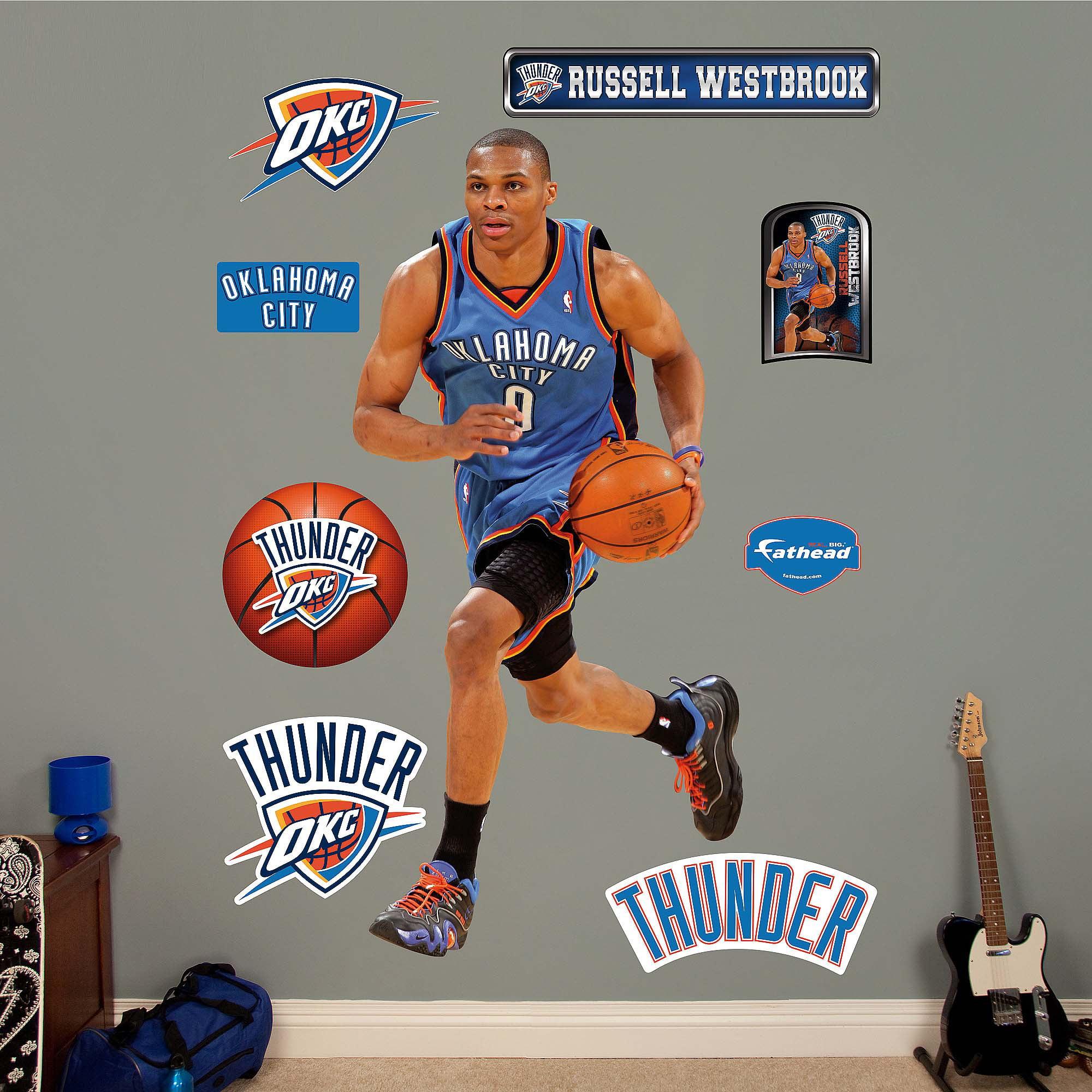 Okc Thunder Bedroom Decor Russell Westbrook Walmartcom