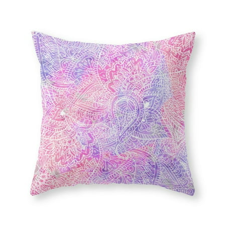 Society40 Pink Purple Paisley Love Throw Pillow Indoor Cover 40 X Best 20x20 Pillow Insert Walmart