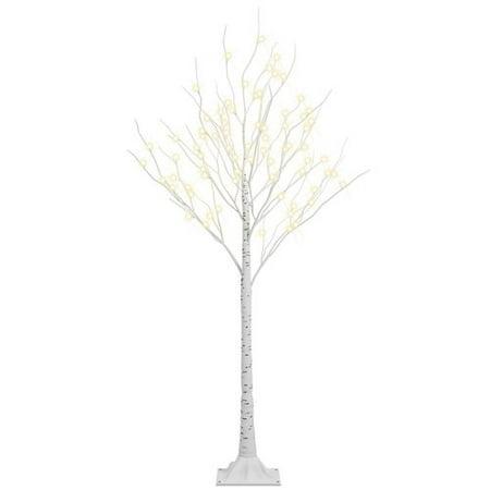 Lightshare Pre-Lit LED 72 Light Birch Tree
