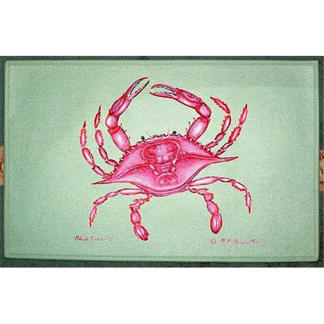 Betsy Drake DM102 Pink Crab Door Mat 18''x26''