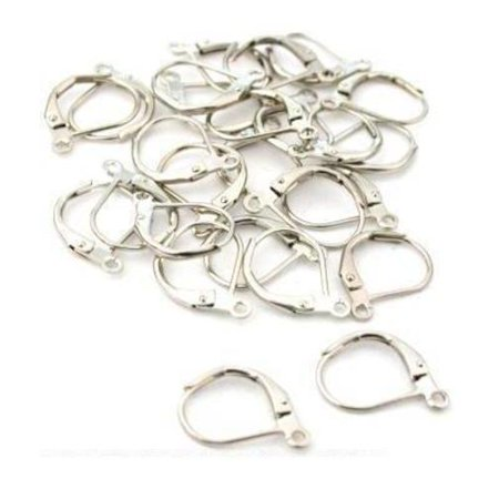 26 Lever Back Earring Parts Nickel Plated -