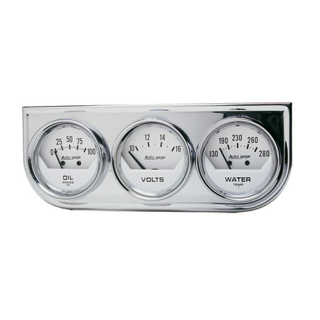 AUTO METER 2325 2IN 3 GAUGE CONSOLE, OIL/ WATER/VOLT, MECH,
