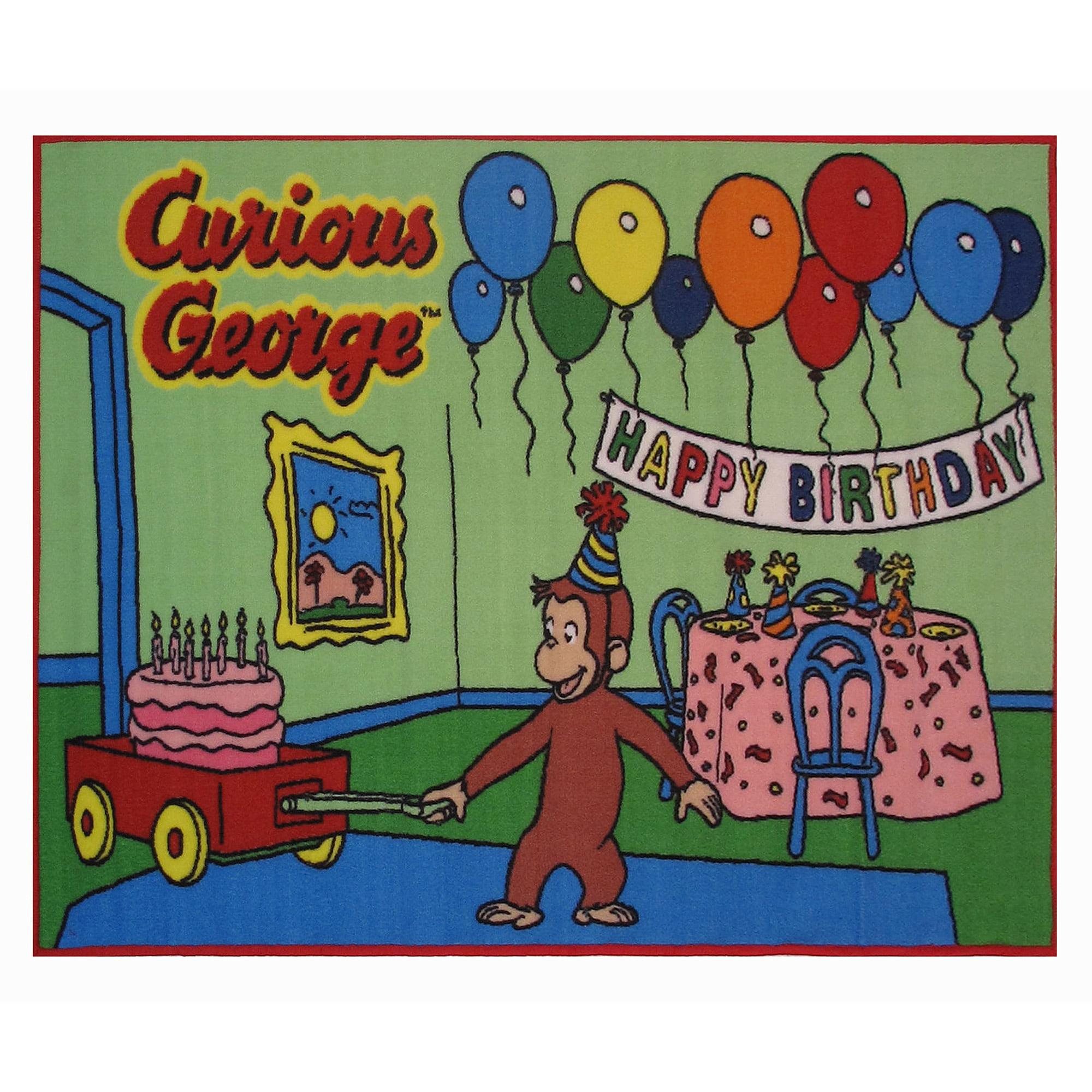 "Fun Rugs Curious George Birthday 51"" x 78"" Rug"