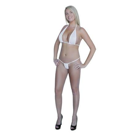 1f98fc8d2b54e1 Flirtzy - Flirtzy Teeny Micro Mini Thong and String Top Bikini Brazilian  Swimwear Mini Bikini Swimsuit G-String - Walmart.com