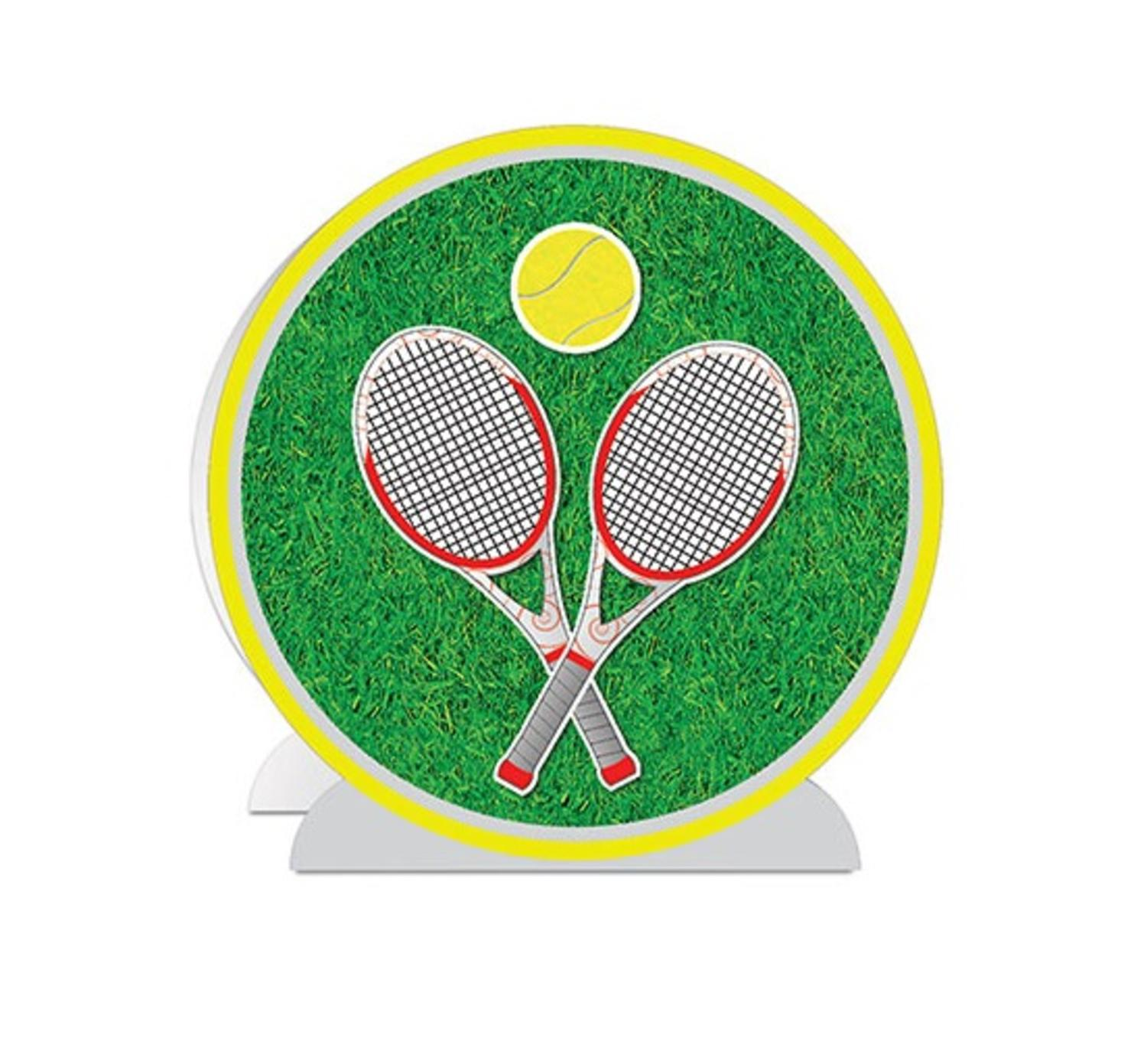 Pack of 12 3-D Green and Yellow Tennis Table Centerpiece ...