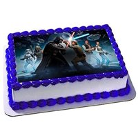 Star Wars Darth Vader Luke Skywalker Han Solo Edible Cake Topper Image