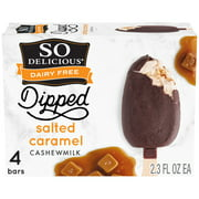 So Delicious Dairy Free Dipped Salted Caramel Cashewmilk Frozen Dessert Bars 4ct