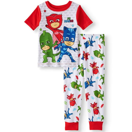 Pj Masks Cotton tight fit pajamas, 2pc set (toddler boys)