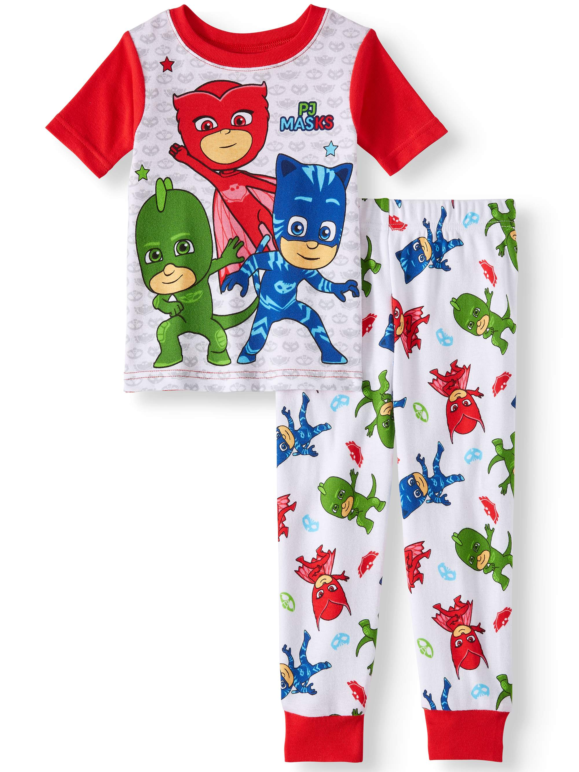 Cotton Tight Fit Pajamas, 2pc Set (Toddler Boys)