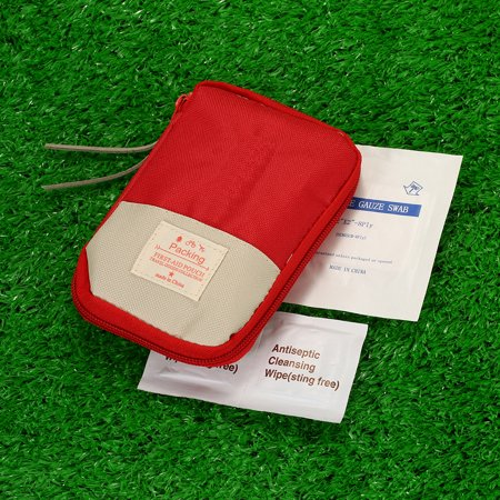 Camping Hiking Travel Home Outdoor Survival Kits Emergency Pouch Case First Aid Kits Bag - image 6 of 7