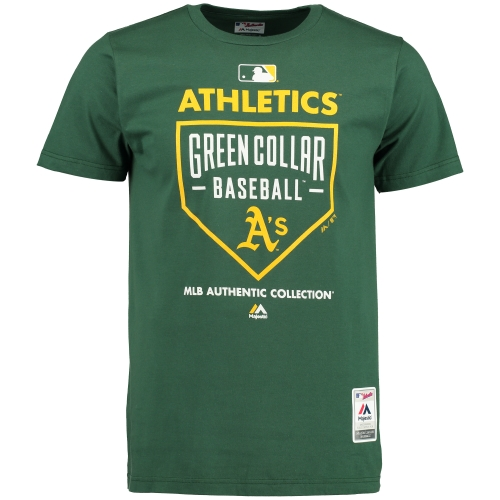 Oakland Athletics Majestic Authentic Collection Team Driven T-Shirt - Green