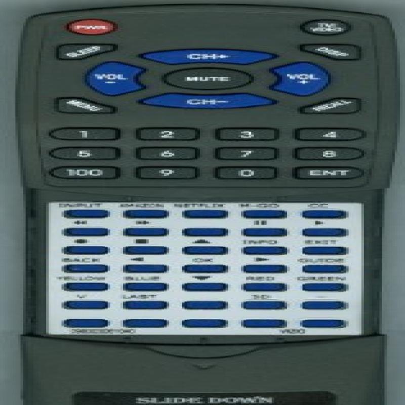 VIZIO Replacement Remote Control for M3D651SV, 0980030610...