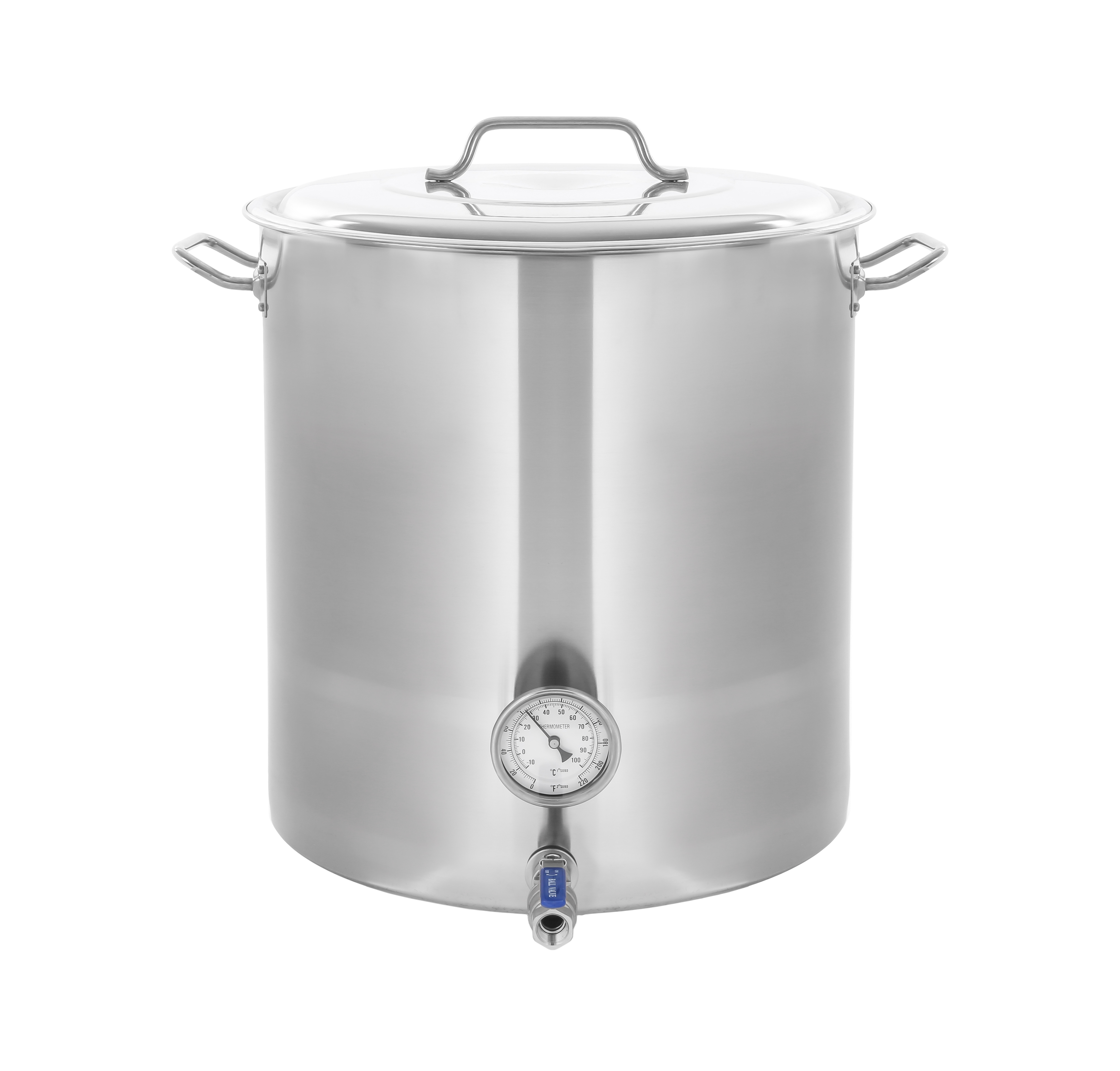CONCORD Stainless Steel Home Brew Kettle Stock Pot (Weldless Fittings) (100 QT/ 25 Gal)
