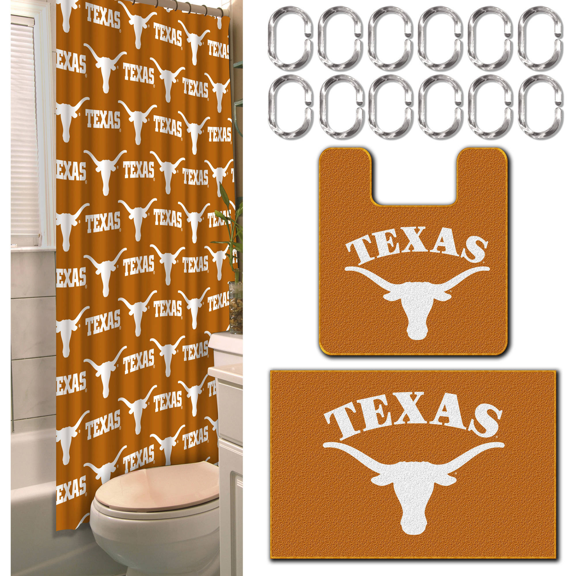 NCAA Texas Longhorns 15-Piece Bath Set