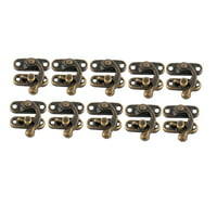 Retro Swing Bag Chest Box Latch Suitcase Lock Clasp Closure Bronze Tone 10pcs