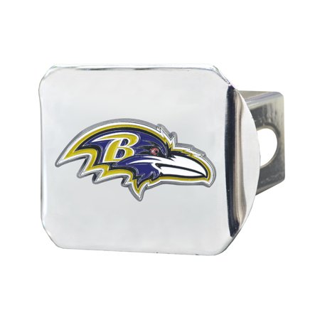 Fan Mat 22534 Trailer Hitch Cover  Fits 2 Inch Receiver; NFL Baltimore Ravens Logo; Chrome Plated; Metal - image 1 de 1