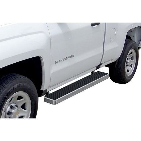2007-2018 Chevy Silverado/ GMC Sierra 1500 Regular Cab\ 2007-2019 2500 HD/3500 HD Regular Cab (Not For 07 Classic Model) Hairline Finish 6 Inch Door to Door Side Bar Side Step Running Board