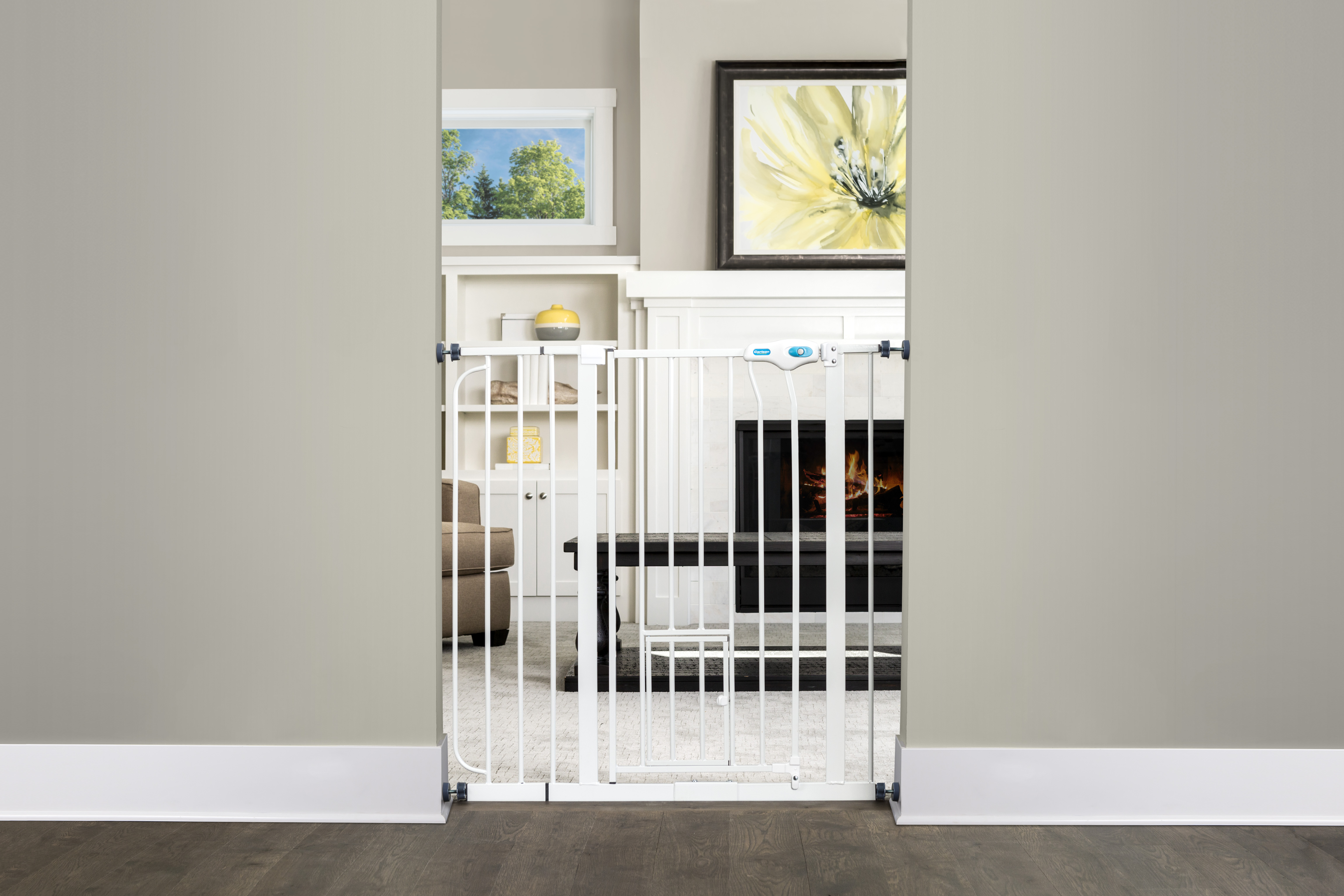 Carlson Extra Tall Pet Gate With Small Pet Door Walmart