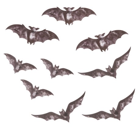 Darice Martha Stewart Crafts Die Cut Chipboard Bats Assorted Sizes - Martha Stewart Halloween Hanging Bats