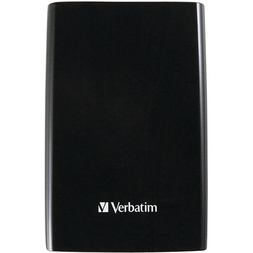 Verbatim 97397 500GB Store 'n' Stay 500GB SuperSpeed USB 3.0 Portable Hard Drive, Piano Black