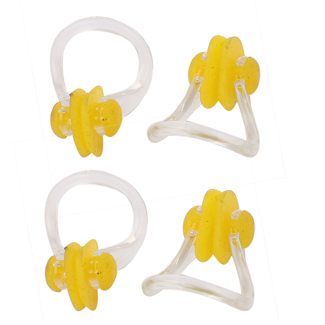 4pcs Clear Plastic Frame Swim Learning Training Swimming Noseclip Nose Clip