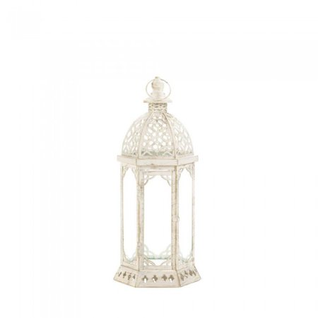 Collection Small Hanging Lantern - GRACEFUL DISTRESSED SMALL WHITE LANTERN